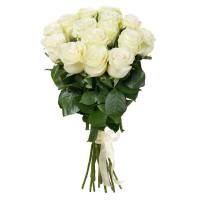 15 роз 50 см белые