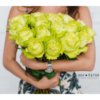 25 роз Лимонад 60см