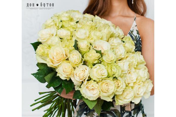 51 роза Мондиаль 70см