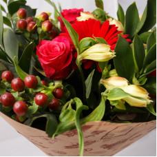 Букет из роз и гербер Чувства