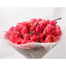 51 розовая роза Кении