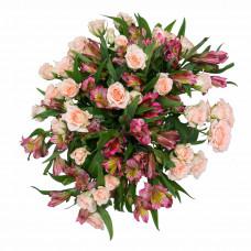 Букет из альстромерии Цветочное кружево