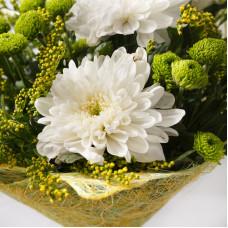 Букет с хризантемами Свежесть